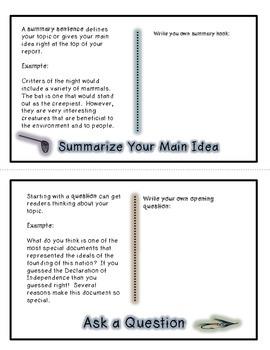 Writer's Hook Foldable Booklet