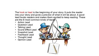 Writers, Hook Your Readers! : Narrative Leads PowerPoint