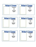 Writer's License Template