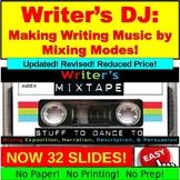 Writer's Mixtape: Exposition, Narration, Description, Persuasion