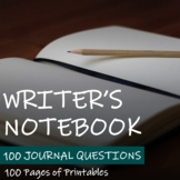 Writers Notebook - Bundle of 100 Journal Questions