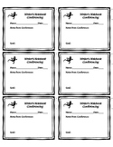 Writer's Notebook Conferencing Labels