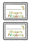 Writer's Notebook Cover Page