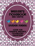 Writer's Notebook Divider Pages {Bird Theme}