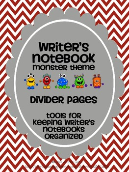 Writer's Notebook Divider Pages {Monster Theme}