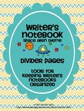 Writer's Notebook Divider Pages {Space Alien Theme}