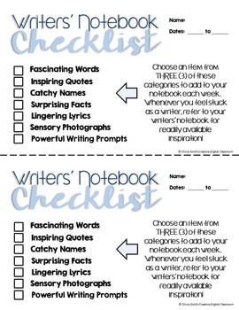 Writer's Notebook Essentials Kit