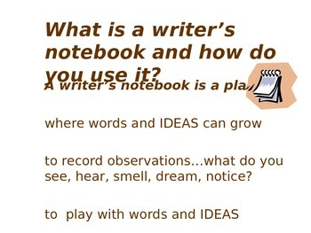 Writers Notebook Introduction