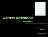 Writers Notebook - Journal Questions Edition 1