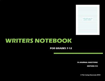 Writers Notebook - Journal Questions Edition 10