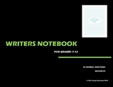 Writers Notebook - Journal Questions Edition 5