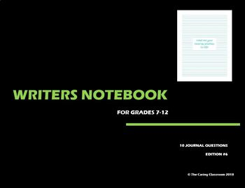 Writers Notebook - Journal Questions Edition 6