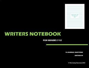 Writers Notebook - Journal Questions Edition 9