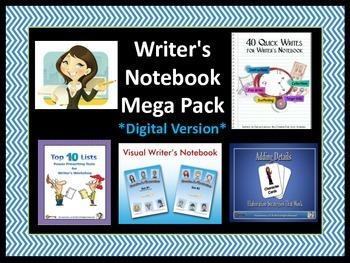 Writer's Notebook Mega Pack (Digital Version)