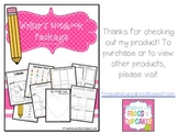 Writer's Notebook Package K-2 + Writing Paper Pack
