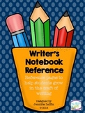 Writer's Notebook Reference -- Helping Students Grow in th