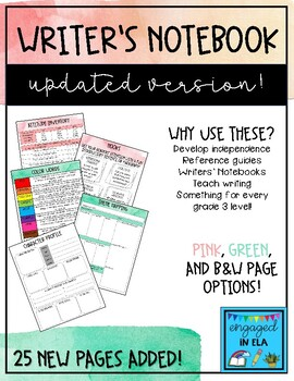 Writers Notebook Reference Sheets - UPDATED 8/20/18!