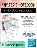 Writers Notebook Reference Sheets