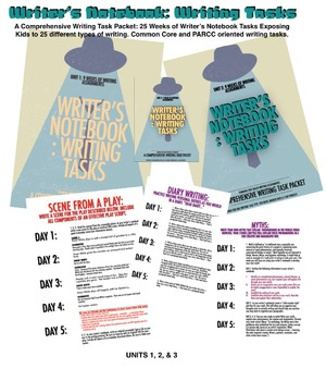 Writer's Notebook: Units 1, 2, & 3 - 25 Weeks of Writer's NB Tasks