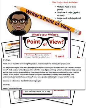 Writer's Point of View (Project Pack)