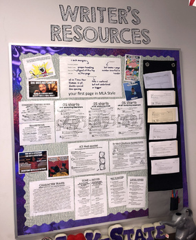 Writer's Resources BUNDLE WITH EXTRAS: posters + handouts for a writer's corner