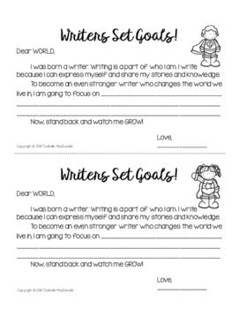 FREEBIE! Writers Set Goals