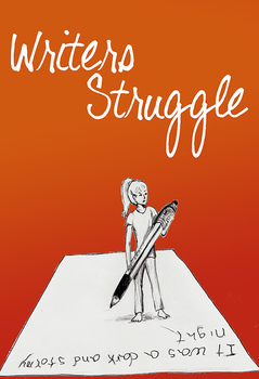 "FREE Poster: ""Writers Struggle"" classroom motivational display"