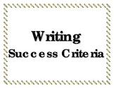 Writer's Success Criteria