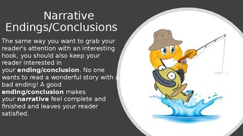 Writers, They're Hooked! Now Reel Them In! :Narrative Endings PowerPoint