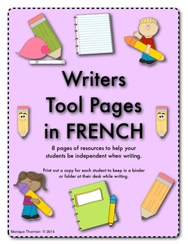Writers Tool Pages in French