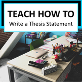 Thesis Statement Lesson Plan