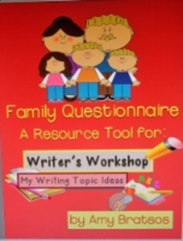 Writer's Workshop Topic/Idea Questionnaire & Parent letter
