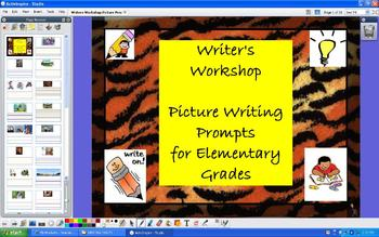 Writer's Workshop 30 Picture Prompts - grades K-5 - ActivInspire Flipchart