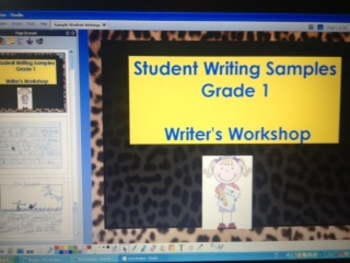 Writer's Workshop 6 Traits of Writing K & 1st Grade Student Writing Samples