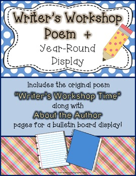 Writer's Workshop Poem + About the Author Bulletin Board Display