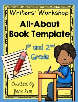 Writers' Workshop: All-About Book Template for 1st and 2nd Grade