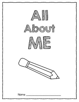 Writers' Workshop Printable: All About Me