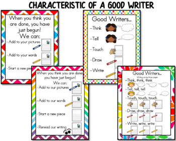 Writing Anchor Charts / Writers Workshop
