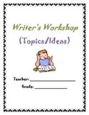Writers Workshop Binder Cover