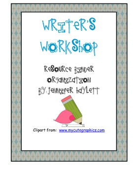 Writer's Workshop Binder Organization