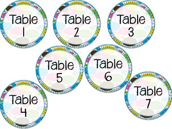 Writer's Workshop Caddy Table Numbers