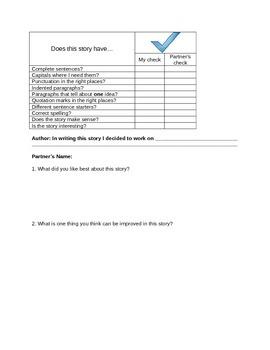 Writer's Workshop Checklist