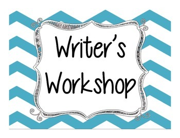 Writer's Workshop Clip Card Stations - Chevron Blue
