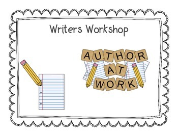 Writers Workshop Clip Chart and Editing Checklists