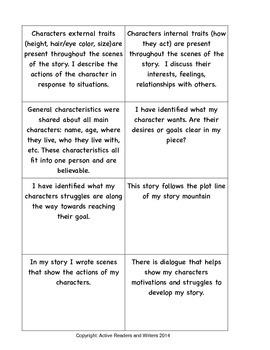 Writer's Workshop Conference Cards: Fiction
