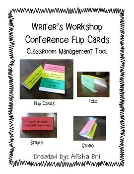Writer's Workshop Conference Flip Cards