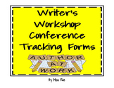 Writer's Workshop Conference Tracking Forms