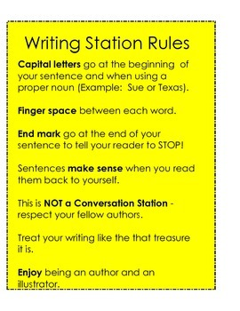 Writer's Workshop / Daily 5 Writing Station / Student Offices