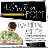 Writers Workshop: Descriptive Writing Unit Posters, Lessons, Anchor Charts