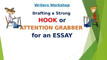 Writers Workshop- Drafting a HOOK, LEAD, or ATTENTION GRABBER for an essay